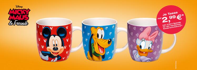 [Total Tankstellen] Original Disney Tassen zum Tanken/Waschcardaufladung