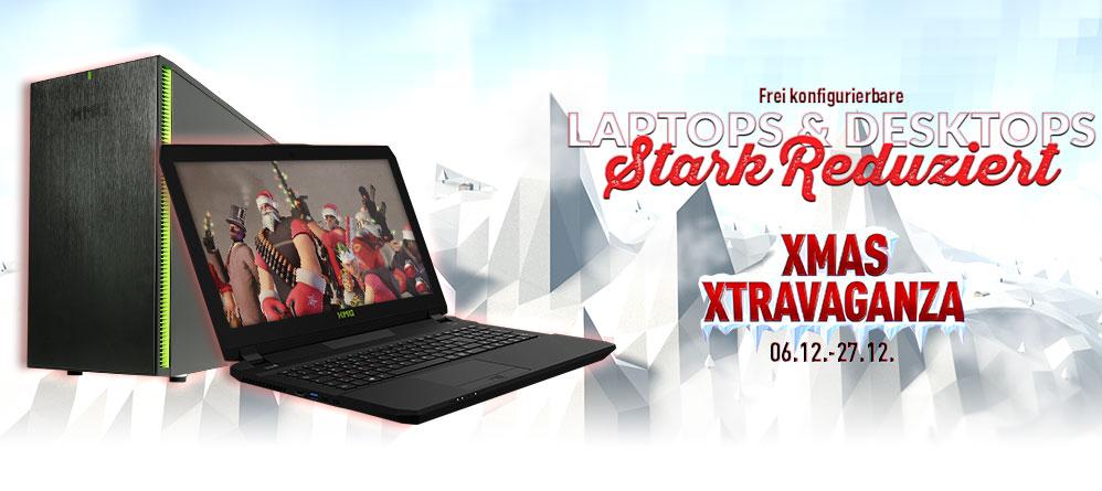 [XMG] XMAS XTRAVAGANZA  bis zu 10 Prozent Rabatt auf Gaming Laptops/Desktops