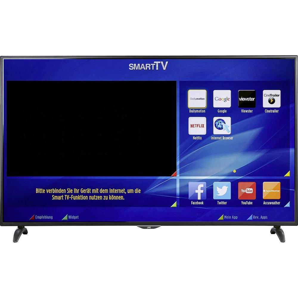 [Conrad] LED-TV 165 cm 65 Zoll JVC LT-65VU83A EEK A+ DVB-T2, DVB-C, DVB-S, UHD, Smart TV, WLAN, CI+ Schwarz