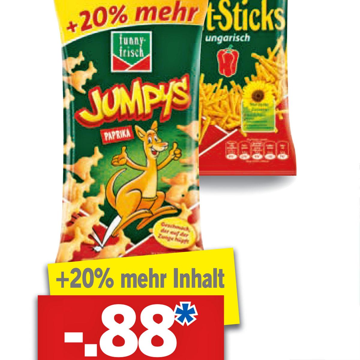 Jumpys und Frit-Sticks für nur 88 Cent und Red Bull für 75 Cent bei [Lidl]