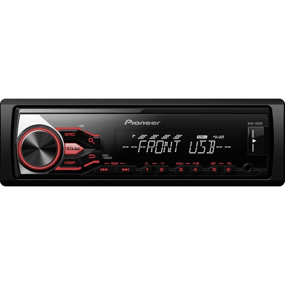 (Conrad) Pioneer MVH-180UB Autoradio mit USB und AUX-Eingang, UKW/MW/LW mit RDS, Remote App Control für Android für 33,45€