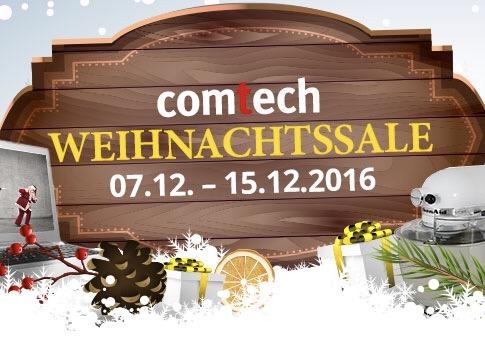 Weihnachtssale bei Comtech bis 15.12. viele Produkte im Angebot - Beispiele im Deal