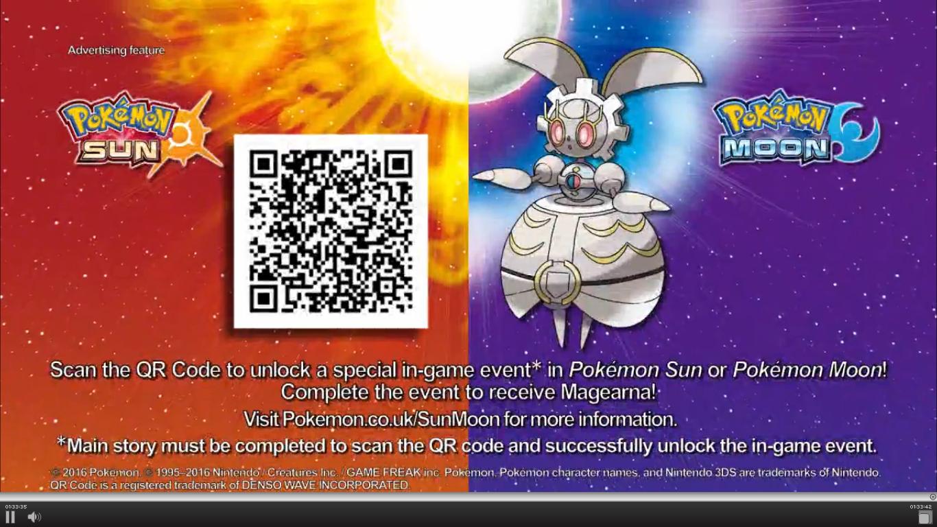 Pokémon Sonne und Mond - Magearna (QR Code)