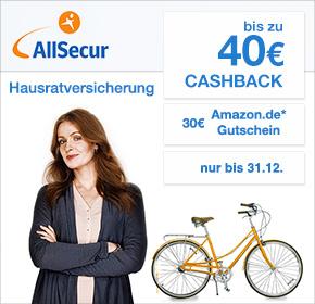 Privathaftpflicht für eff. 0,71€/Jahr (Single) oder 16,78€/Jahr (Familie) durch 30€ Cashback und 30€ Amazon Gutschein bei Allsecur via Shoop
