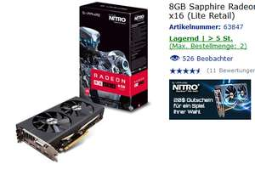 MF 8192MB Sapphire Radeon RX 480 Nitro+ @ Mindstar + CIV 6 + 20€ G2A Gutschein