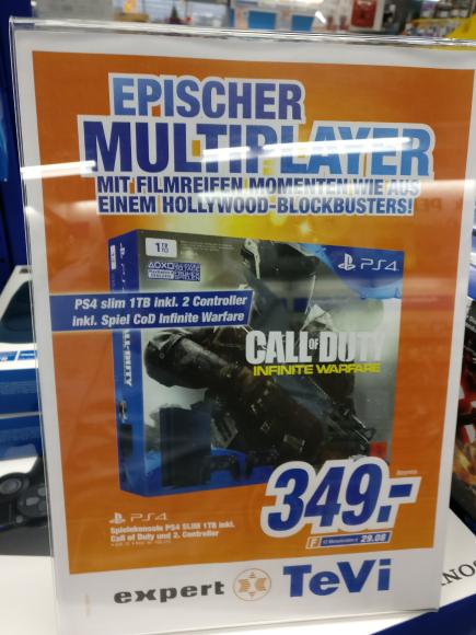 PS4 slim 1 TB  + 2 Controller und Infinite War