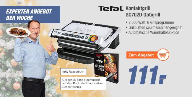 [Regional] Tefal Optigrill 702d dank 40€für50€ Gutschein (Expert Gröblinghoff) für 91€