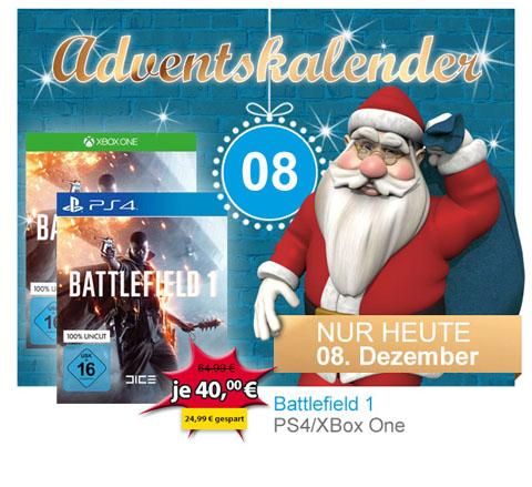 @Müller Battlefield 1 PS4 und XBox One für 36 Euro mit Rossmann Coupon