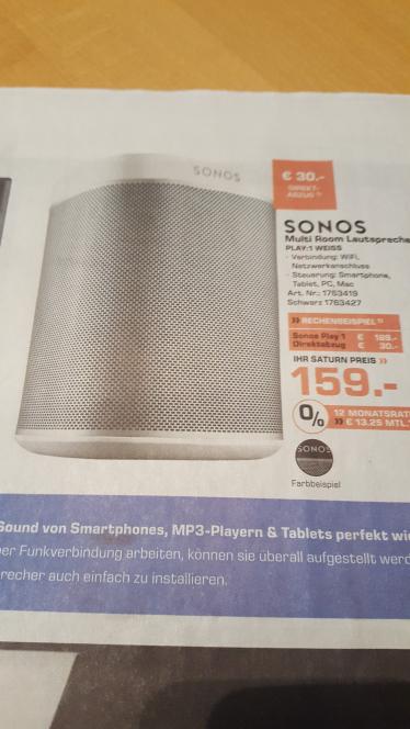 [Lokal Saturn Wesel] Sonos PLAY:1