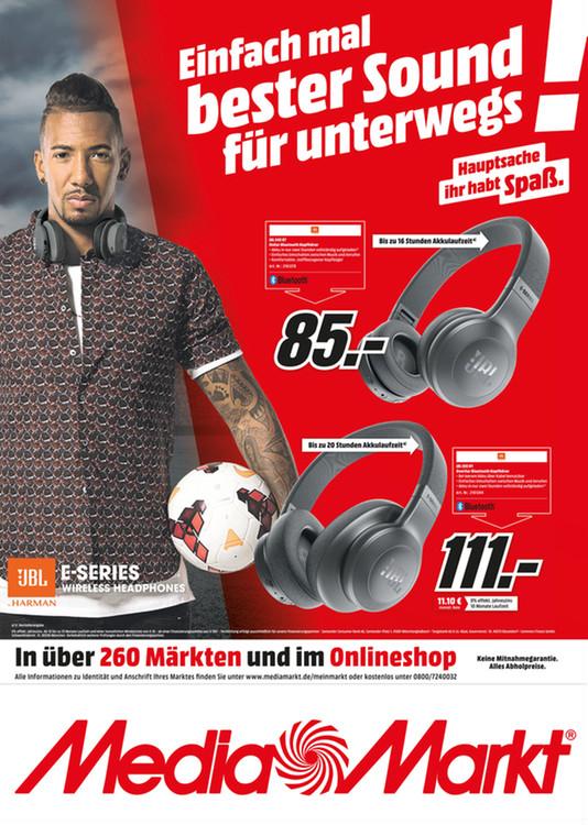 Kopfhörer JBL E45BT für 85€ und JBL E55BT für 111€,  [MediaMarkt online / offline]