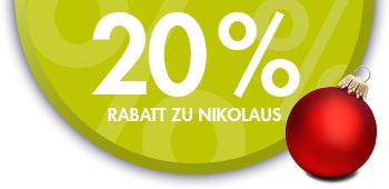 20% Nikolausrabatt auf alle Lagerwaren bei Herrenaustatter.de