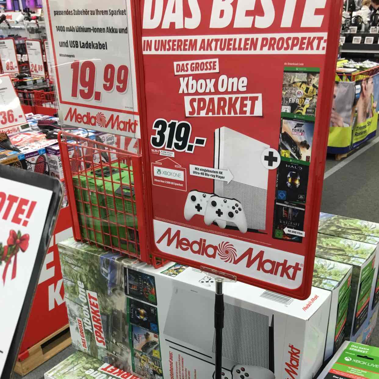 LOKAL!!! Xbox one Sparket! Xbox One S 500GB + 2 Controller + Fifa17 +Forza Horizone 3 + Halo Master Chief Collection + Halo Combat Evolved + Halo 2,3 und 4 & nur heute 1 Jahr Gold pass kostenlos dazu