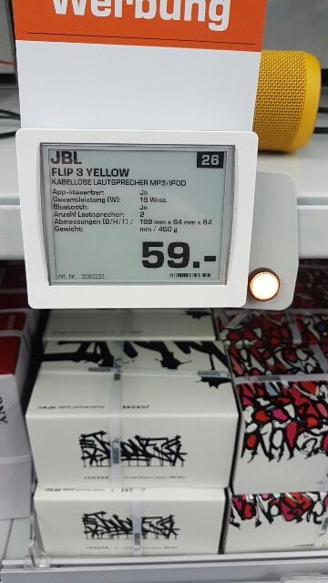 [LOKAL Saturn Hannover Isernhagen] jbl flip 3 alle! Farben für 59 Euro.