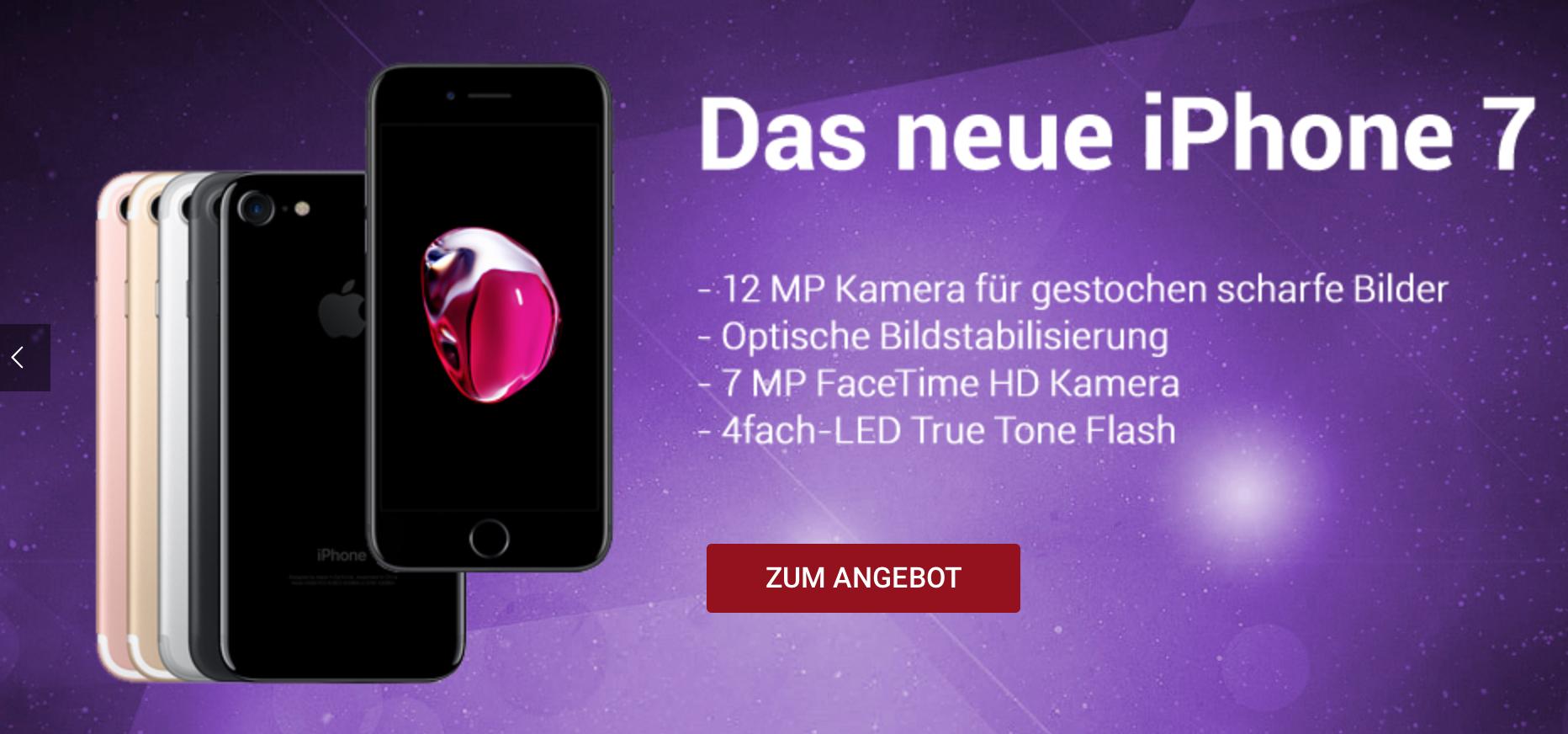 Leckerbissen XMAS Spezial mit iPhone 7 128GB mit ALLNET für einmalig 1€