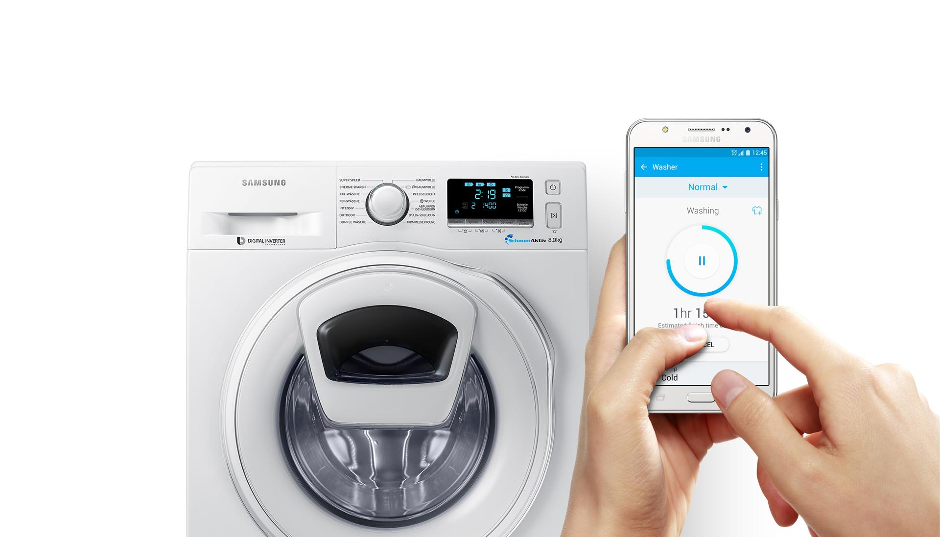 Samsung Smarte Waschmaschine WW80K6404SW für effektiv 504€