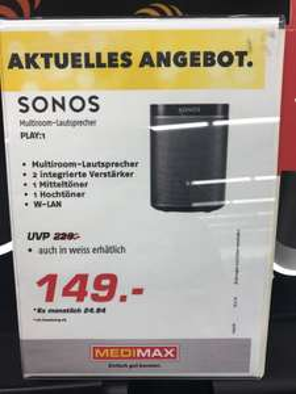 Sonos Play:1(Lokal Berlin Marzahn)