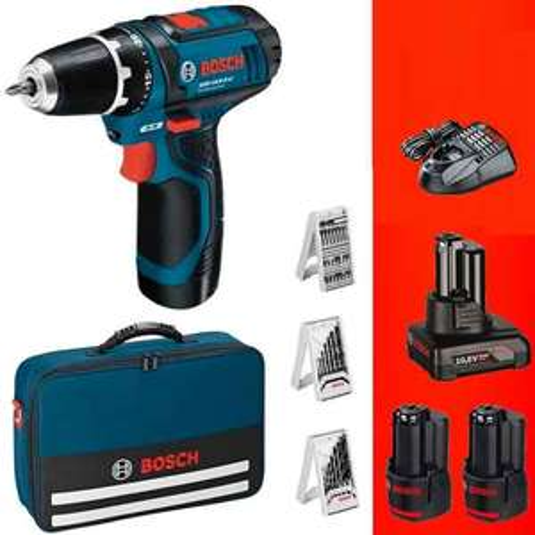 Bosch GSR 10,8v-li 1x4,0Ah und 2x 2,0Ah mit Zubehör und Tsche