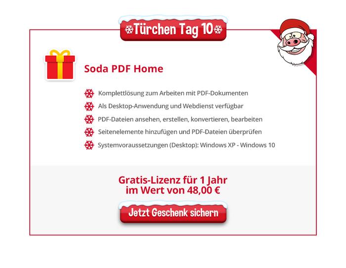 Heise Adventskalender ,Soda PDF Home 9, kostenlose Vollversion