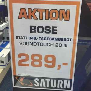 (Lokal) Saturn Arkarden Münster Bose Soundtouch 20 Series III