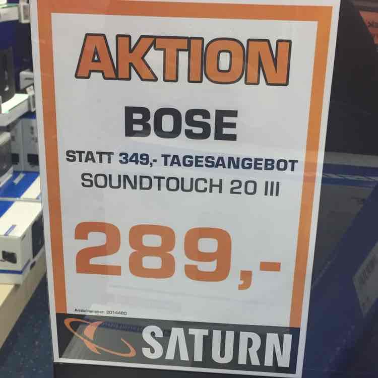 (Lokal) Saturn Arkarden Münster Bose Soundtouch 20 Series III