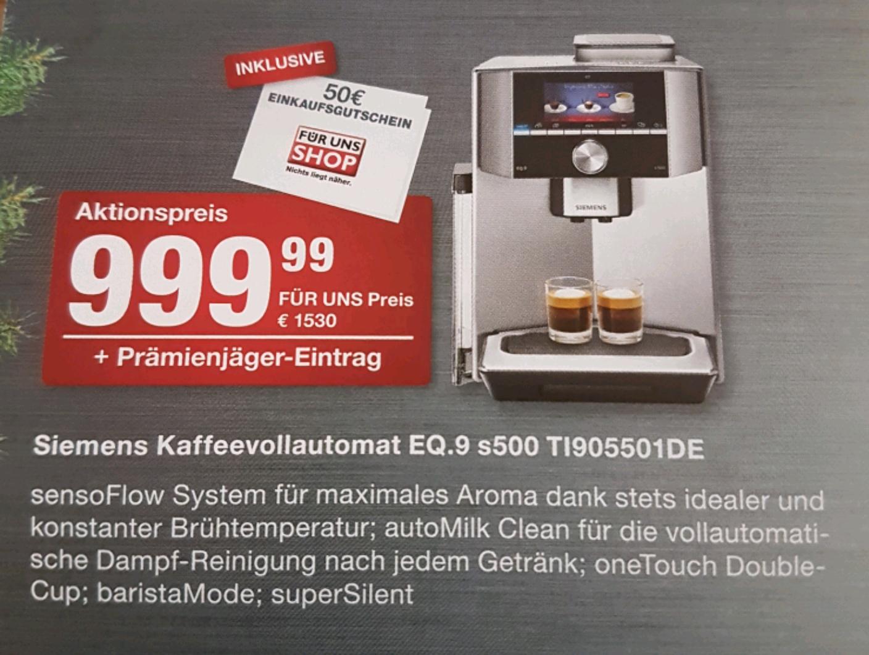Siemens EQ.9 s500 Kaffeevollautomat