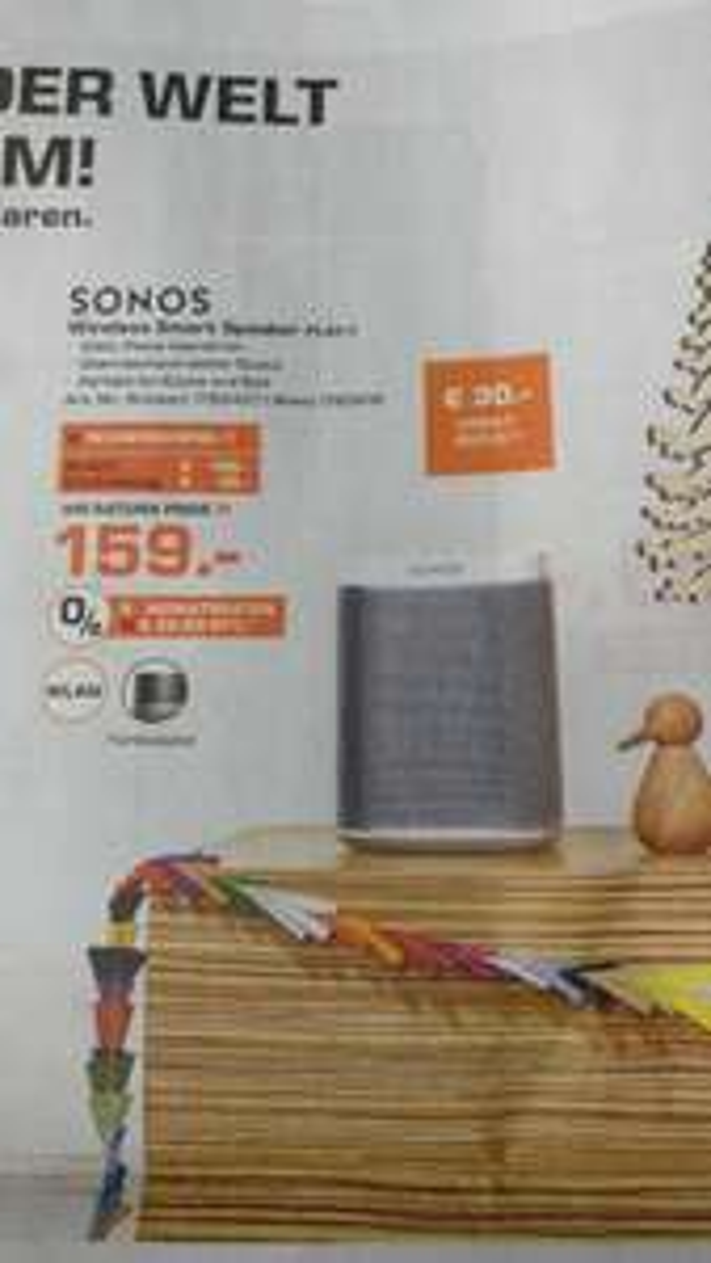 [Lokal] Sonos Play:1 Saturn Kleve für 159€