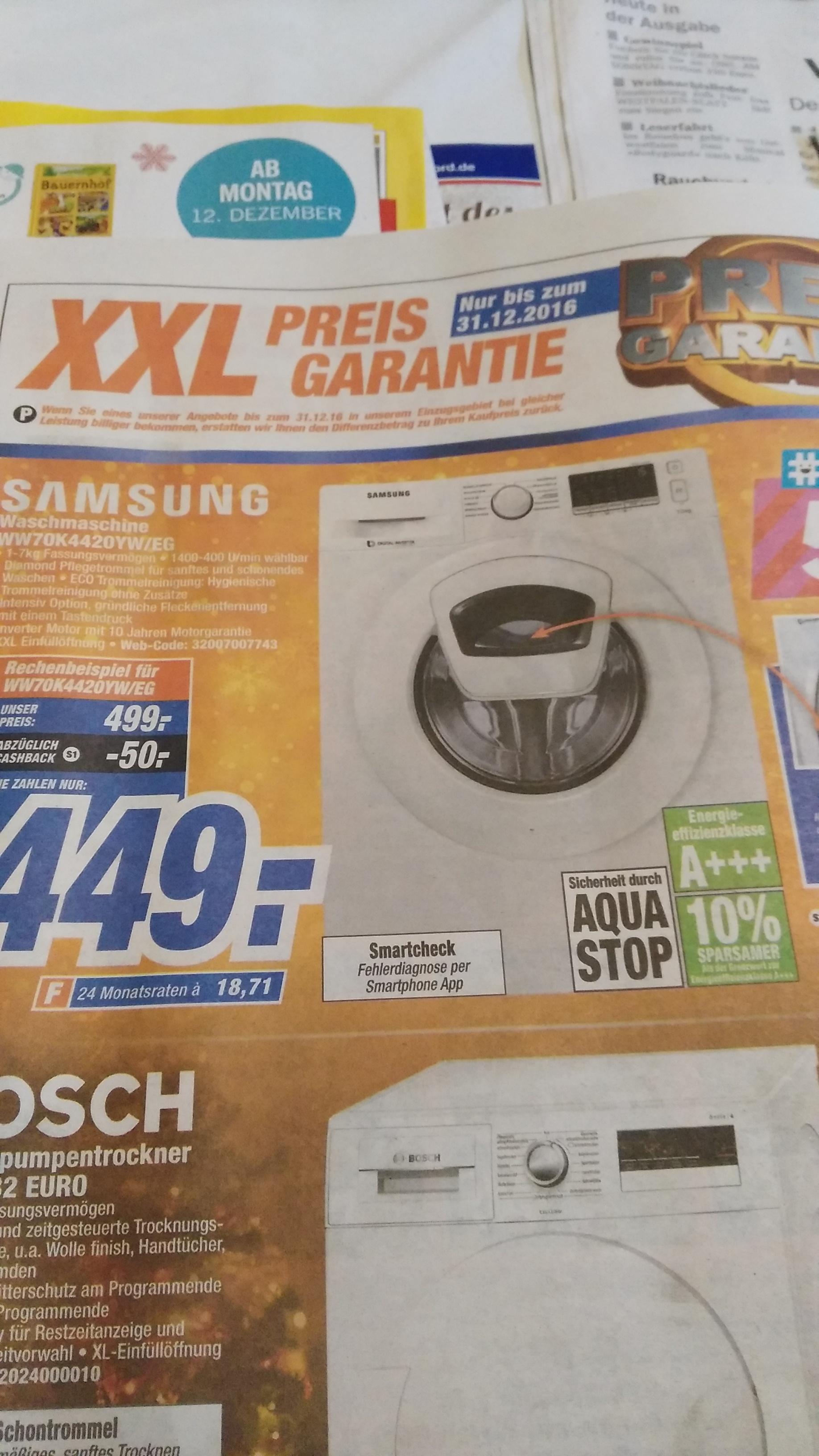 Samsung Waschmaschine  ww70k4420yw/eg