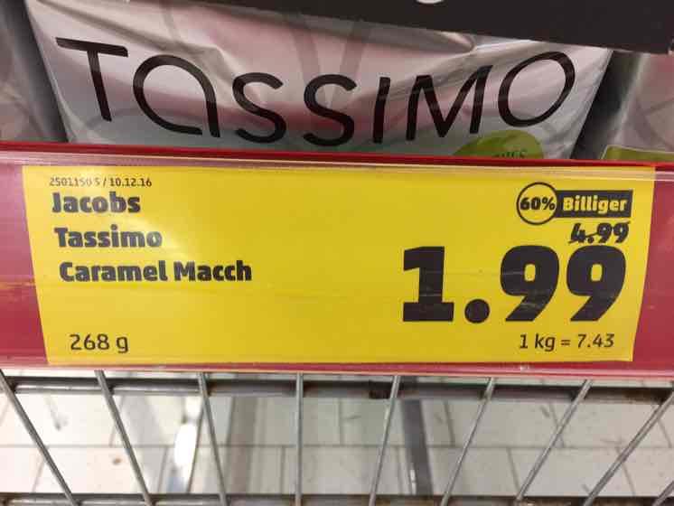 Lokal: Jacobs Tassimo Caramel Macciato