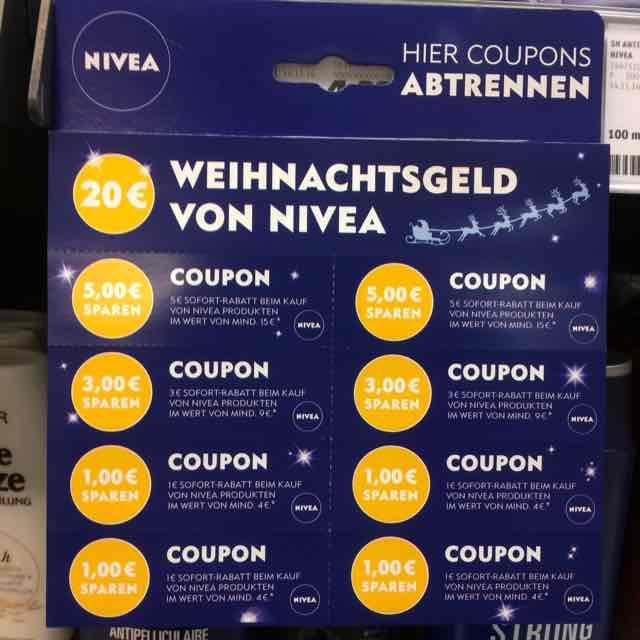 Nivea Coupons im REWE (z.B. 5€ Sofortrabatt bei 15€)