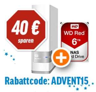WD My Cloud (NAS) mit 6TB WD Red Festplatte - inkl. Versand - notebooksbilliger