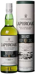[Amazon Prime] Günstige Laphroaig Single Malt Whisky z.B. Laphroaig SELECT (0.7 l) für 22.99€ oder 2x Quarter Cask für 43,95€