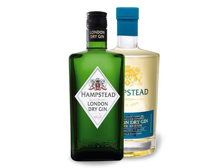 2x Hempstead GIN Paket (Hampstead Premium Gin & Islay Single Malt Cask) [lidl-shop.de]