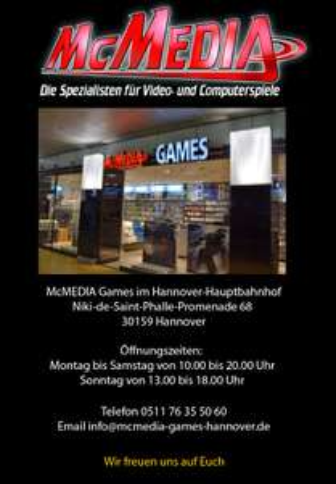 [Lokal Hannover] McMediaGames Call of Duty: Infinite Warfare NEU für PS4 und XBOX ONE je 29,99€