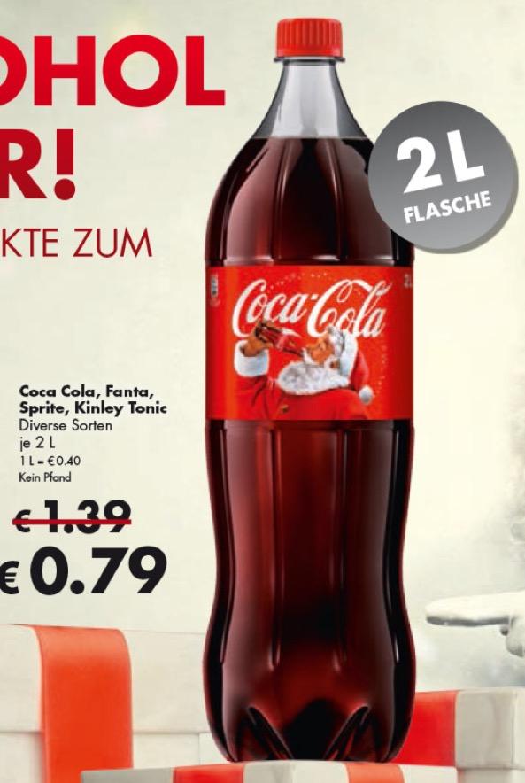 [Grenzgänger CZ] Coca Cola, Sprite, Fanta, Kinley Tonic 2 Liter