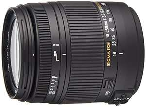 Sigma 18-250 mm F3,5-6,3 DC Macro OS HSM Objektiv Nikon (Amazon)