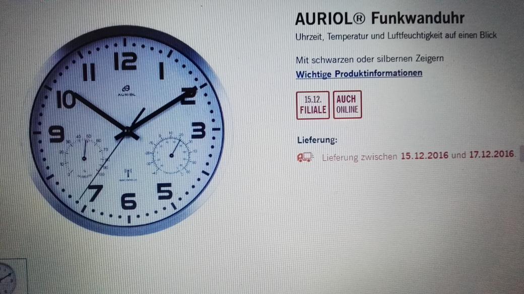 Funkwanduhr diese Woche bei Lidl(on-offline) 12,99€