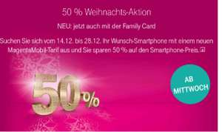 50% Telekom Magenta Mobil Xmas Aktion
