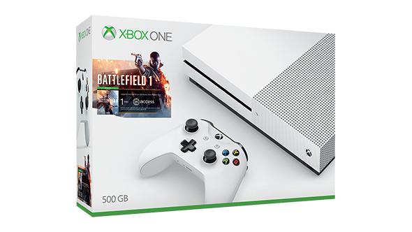 Xbox One S Battlefield 1 oder FIFA 17 Bundle für 249,99€ @ Microsoft