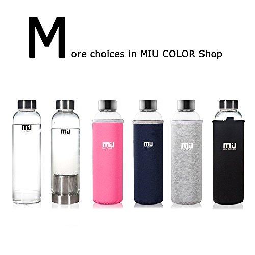 @Prime MIU COLOR® Stilvolle tragbare 550ml Glasflasche mit Nylon Tasche Trinkflasche für Auto onhe Teesieb