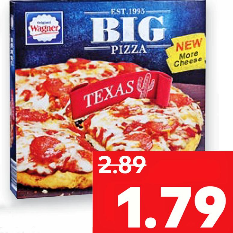 """Wagner """"Big Pizza Texas"""" dank 1€ Rabatt bei Kauf von 2 Packungen ab Donnerstag dann nur noch 1,29€ bei [Kaufland]"""