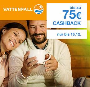 SHOOP: Aktuell erhöhte Cashbackrate (35€/75€)bei Vattenfall/ für Gas und Strom /12 u. 24.Monate