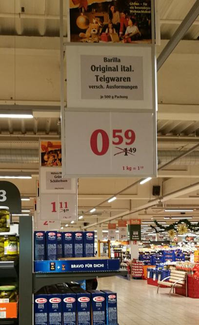 Barilla Nudeln  500 gr. alle Sorten (Globus Homburg/Einöd)