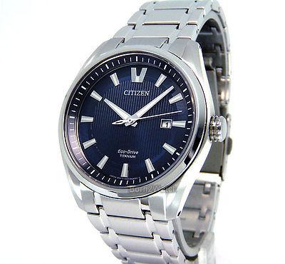 Citizen Dresswatch AW1240-57L Komplett Titan, Eco-Drive, Saphirglas und 42mm