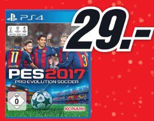 [Lokal Mediamärkte Köln] Pro Evolution Soccer (PES) 2017 (Playstation 4) für 29,-€