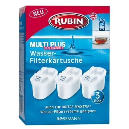 Rubin Multi Plus Wasser-Filterkartusche (für Brita Maxtra) bei Rossmann, 3 Stück für 6,99