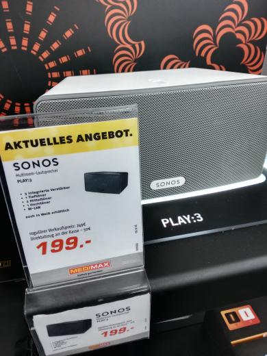 [Regional] Sonos Play:3 für 199€ Medimax Berlin Charlottenburg Wilmersdorfer Arkaden