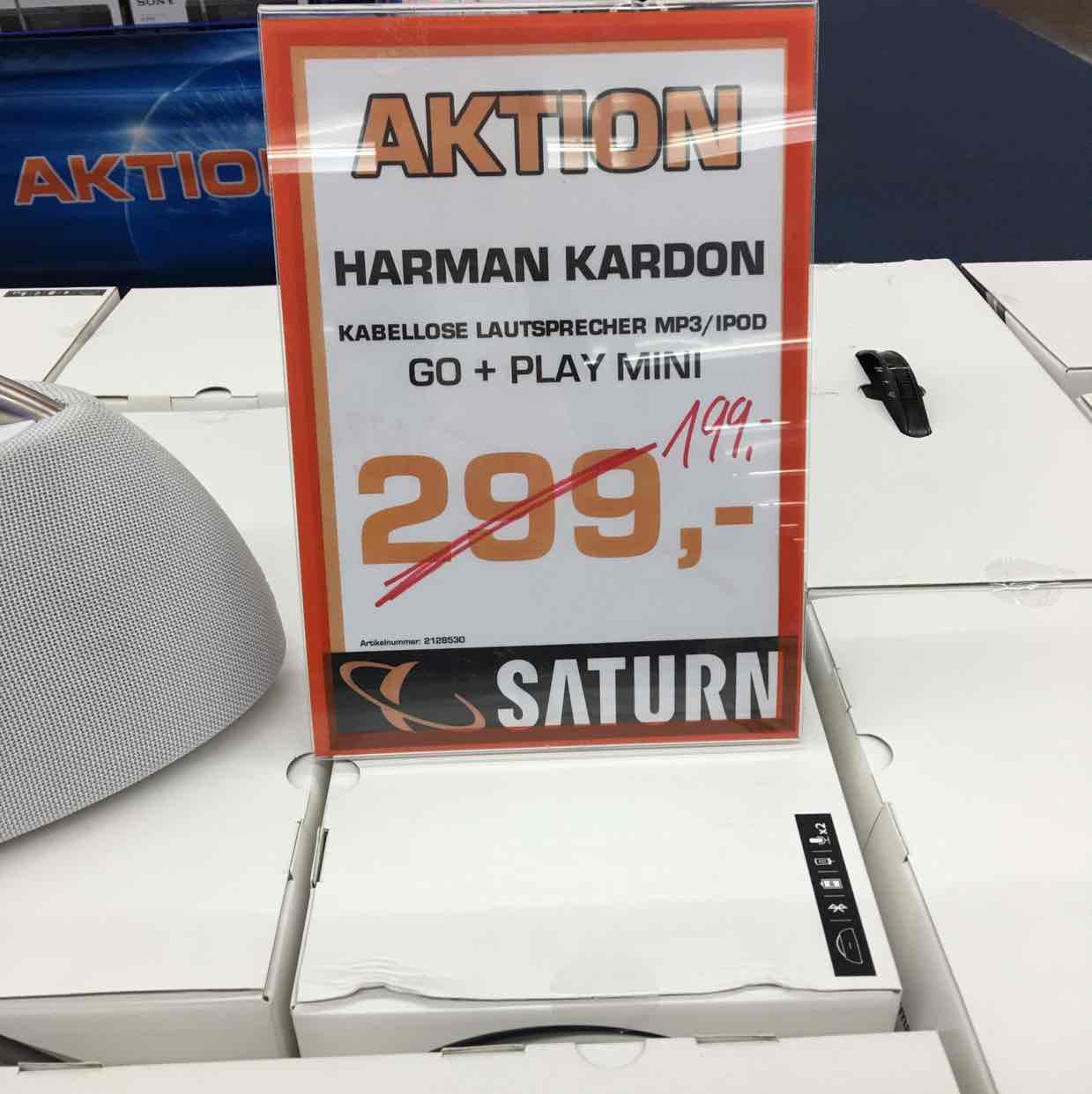 (Lokal Saturn Karlsruhe) Harman-Kardon Go + Play Mini weiss und schwarz für 199,-