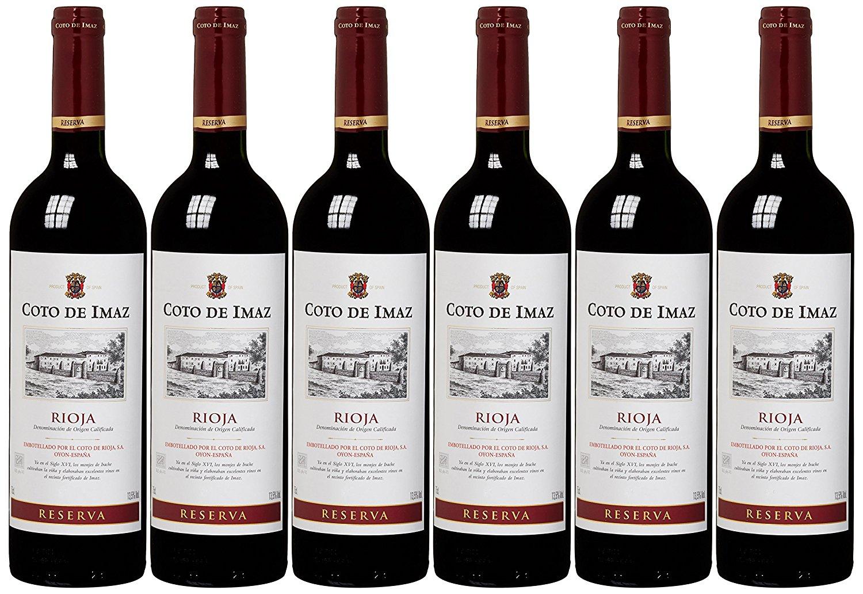 6 Flaschen Coto de Imaz, Rioja Reserva DOC. für 10,99 € bei [Amazon Prime]