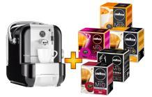Saeco AAM 1100 Set mit 80 (5x16 Stück?) Kapseln (Alternative zum Nespresso-Angebot)? rot/weiß/schwarz
