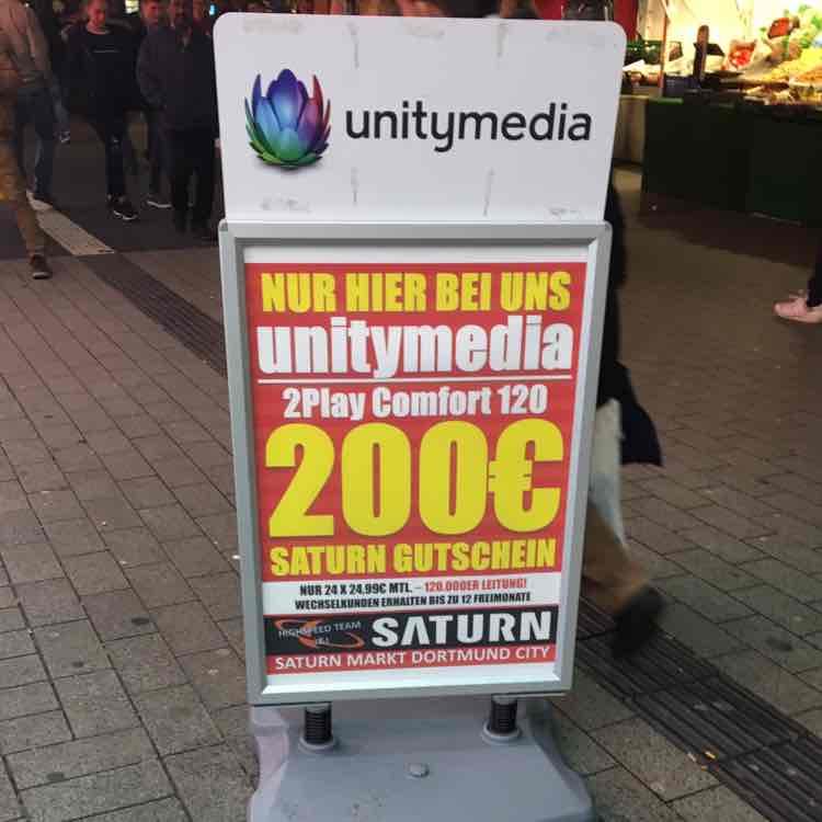 [Saturn Dortmund City] Unitymedia 2play Comfort 120 inkl. 200€ Saturn Gutschein
